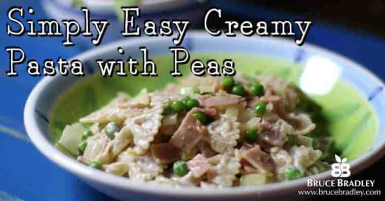 Looking for a quick meal that can replace those boxes of mac and cheese? Simply Easy Creamy Pasta with Peas is super quick, easy enough for the kids to help make, and it uses only REAL ingredients. It's also really flexible so you can customize it to your tastes or what you've got on hand.