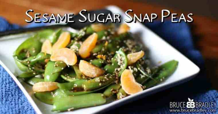 Bruce Bradley's Sesame Sugar Snap Pea recipe is a delicious, asian-inspired side dish with hints of ginger, honey, sesame, and soy sauce.