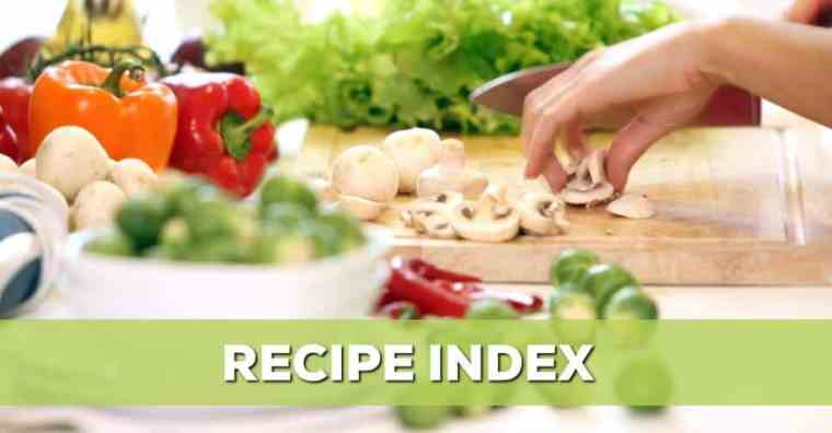 ALPHABETICAL RECIPE INDEX