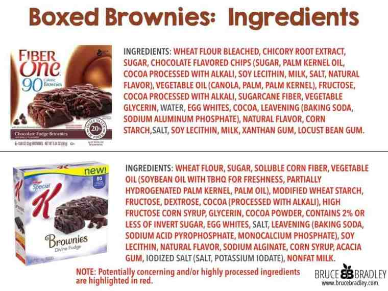 Boxed brownie bars are deceptively marketed as healthy, but in reality are filled with highly processed ingredients.