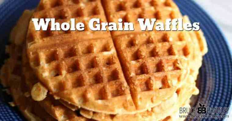 Bruce Bradley's one bowl, whole grain waffles are quick, easy, freeze well, and are made with 100% real ingredients. You can't ask for more!