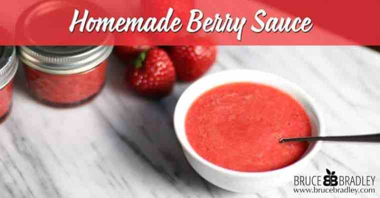 Our Homemade Berry Sauce is made with just 2 ingredients and it's a great way to add LOTS of flavor to yogurt, desserts, pancakes, or waffles!