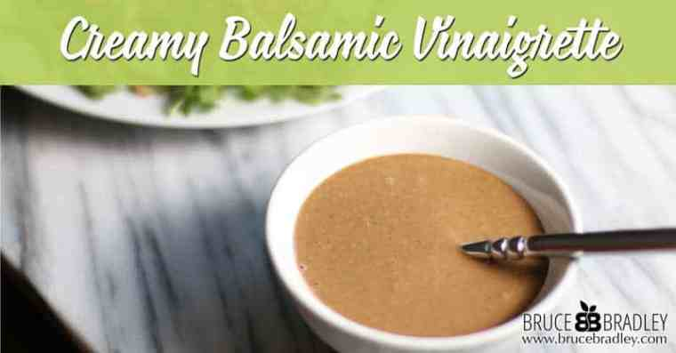 There's nothing like a Creamy Balsamic Vinaigrette to make your salad pop! Easy, simple, and made from real ingredients, this recipe for homemade dressing is a keeper!