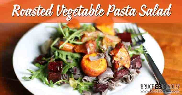 This Roasted Vegetable Pasta Salad is a delicious, fall-inspired recipe made with your favorite greens. It's perfect as a side dish, pretty enough for your holiday today, but also hearty enough for a meal!