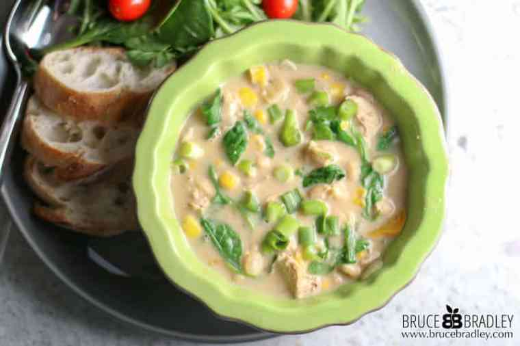 This delicious White Bean Chicken Chili recipe is filled with vegetables, the perfect blend of spices, and includes a vegan option!