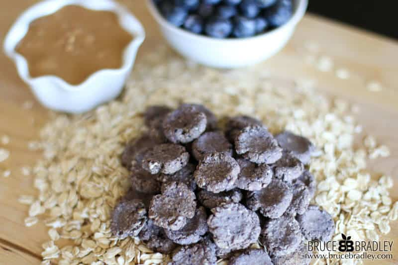 These Homemade Peanut Butter Dog Treats are made with 100% real ingredients like oatmeal,