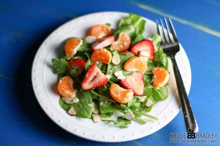 This delicious Orange Spinach Salad with Toasted Almonds is an amazing, citrusy twist on the classic Spinach Salad.