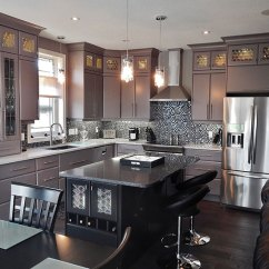 Custom Kitchen Cool Lighting Bruce County Cabinets Kitchens Contemporary Grey