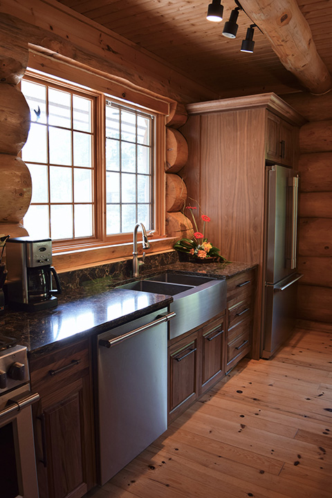 Bruce County Custom Cabinets  Natural Walnut Custom Kitchen