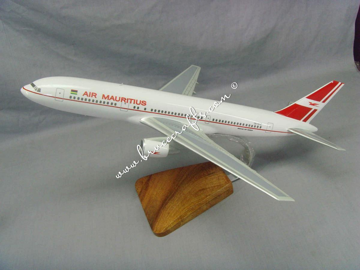 B767-300 Air Mauritius - Mahogany Wooden Aircraft Models – Boat & Ship Models Handmade Museum Quality