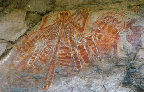 Yinganna the creation mother, female aspect of the Rainbow Serpent represented in Injalak rock art. (Image credit: Moyra Le Blanc Smith)