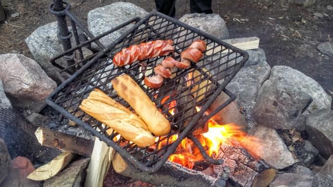 spiral cut sausages