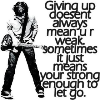 emo strong enough to let go