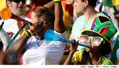 world cup plastic horns