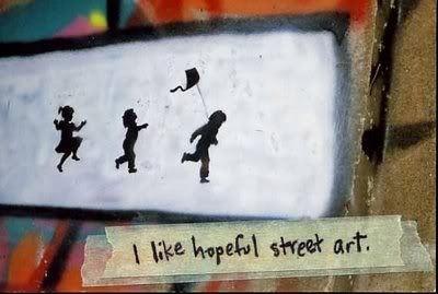 hopeful street art