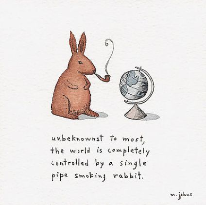 world controlled by a rabbit