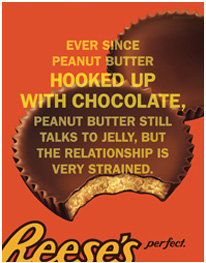 reese's cups and chocolate