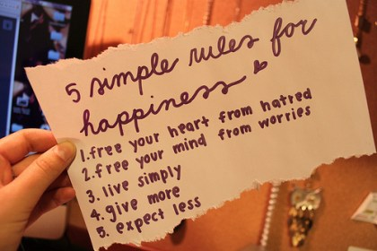 secret happiness 5 things