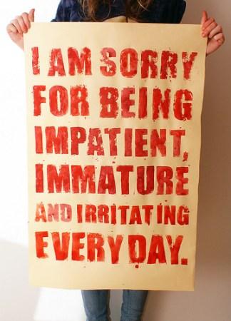 impatient and irritating