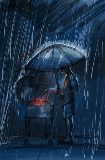 macho barbeque rain