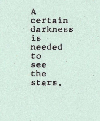 darkness and certain stars