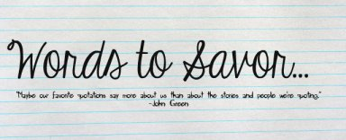 Words to Savor