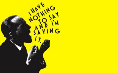 saying nothing man