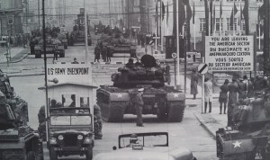 berlin checkpoint stand off