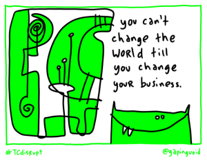 disrupt change world