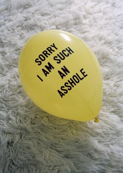 asshole apology