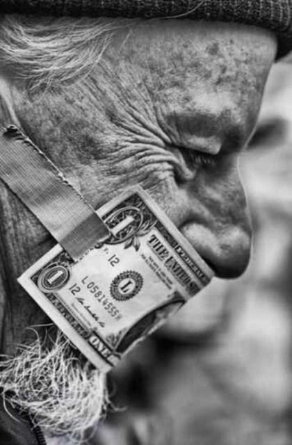 corruption dollar mask
