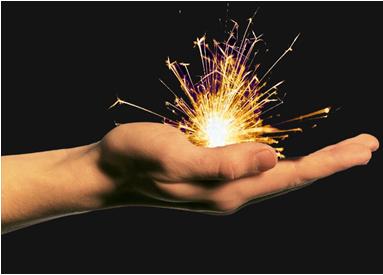 creative spark hand