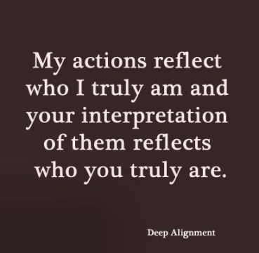 who  i am actions reflect