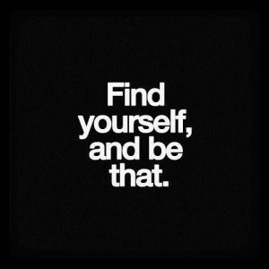 be find yourself and be