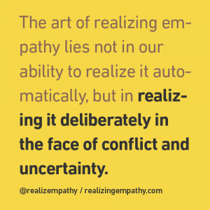 dignity uncertainty conflict empathy