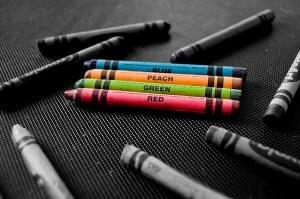 colors black crayons