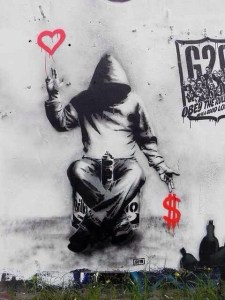 graffiti heart money
