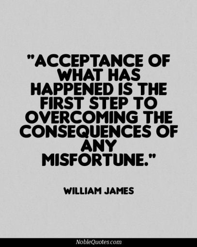 misfortune consequences accept