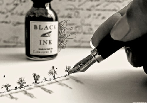 imagery black ink write