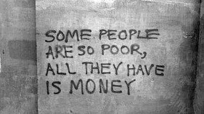 capitalism poor with money