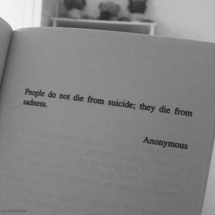 suicide sadness