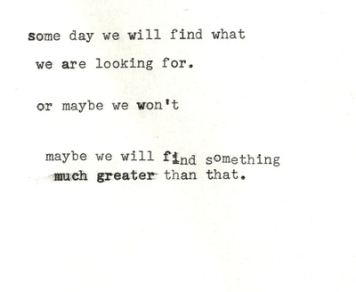 find something greater