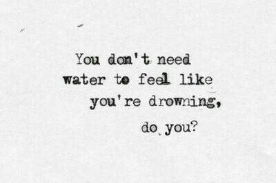 drowning no water life