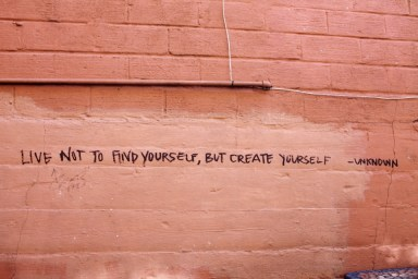 live to create yourself change people
