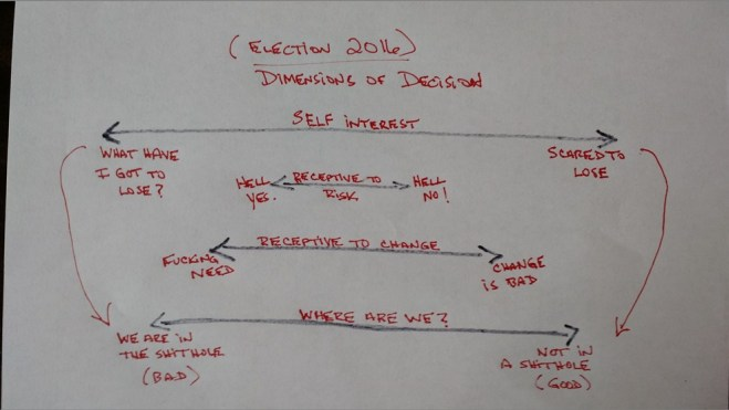 election choices dimensions self interest