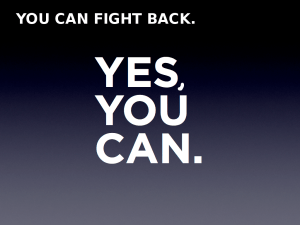 fight back yes you can