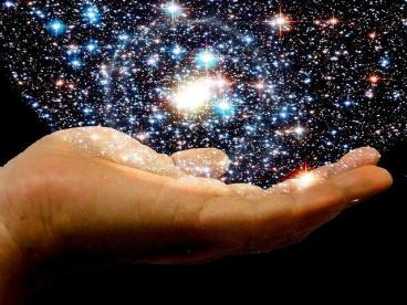 universe in the palm of our hands life