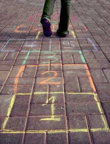 hopscotch path life steps numbers