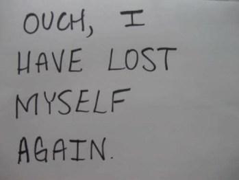 saved time lost myself again