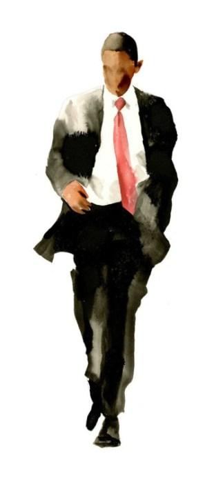 obama watercolor